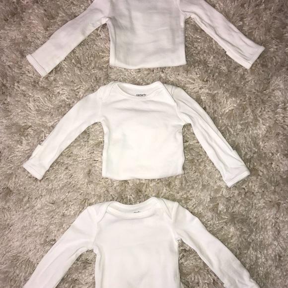 90faf700e Carter's Shirts & Tops   Baby Plain White Onesie   Poshmark